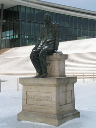 Dostoevsky monument in Dresden, (Germany)
