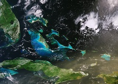 Dust particles can be seen as far as Cuba