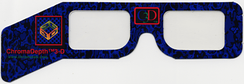ChromaDepth glasses with prism-like film