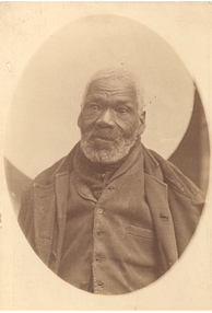 The only known photograph of a Black Refugee, c. 1890. During the war, a number of African Americans slaves escaped aboard British ships, settling in Canada or Trinidad.