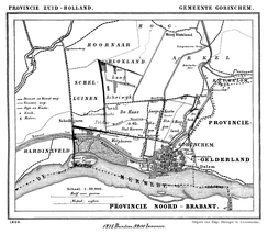 Map of Gorinchem of 1869.