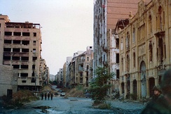 The Green Line that separated West and East Beirut, 1982