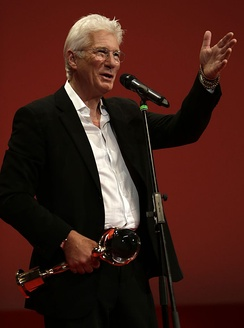 Richard Gere with the Crystal Globe at the 50th Karlovy Vary IFF (2015)