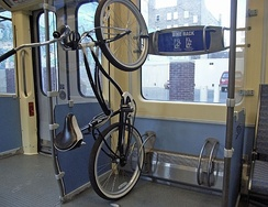 Bicycle rack on the METRO Blue Line LRT
