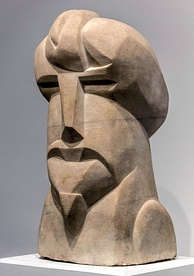 Pound commissioned this sculpture from Henri Gaudier-Brzeska in 1913.
