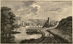 Engraving of Inverness from A Tour in Scotland by Thomas Pennant, 1771.