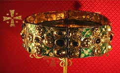 The Iron Crown of Lombardy, used by Napoleon to symbolize authority over Northern Italy