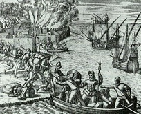 Jacques de Sores looting and burning Havana in 1555