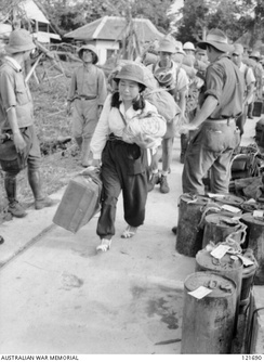 Japanese civilians and soldiers leaving North Borneo after the surrender of Japan to the Australian forces.