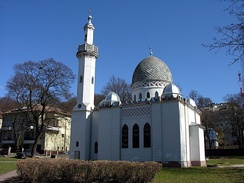 Kaunas Mosque is the only brick mosque in Lithuania. To this day, it is still used by the Lipka Tatars, who were settled in the country by Vytautas the Great during the Middle Ages.[127]