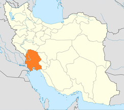Location of Khuzestan Province in Iran which Iraq planned to annex