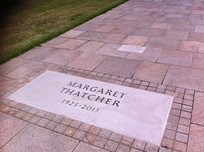Tumba de Thatcher en el Royal Hospital Chelsea.