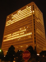 Former ING Insurance at night in Minneapolis, Minnesota in the United States