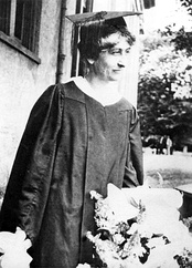 Mary Ethel Creswell, in 1919, the first woman to earn an undergraduate degree at the university
