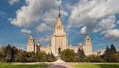 The main building of Moscow State University in Moscow