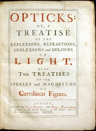 Cover of the first edition of Newton's Opticks (1704)
