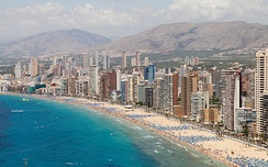 Benidorm, one of Europe's largest coastal tourist destinations