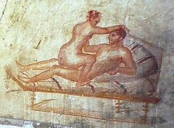 Fresco from the Pompeii brothel