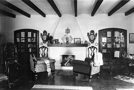 A room of the Güiraldes' house in San Antonio de Areco, currently a gaucho museum.