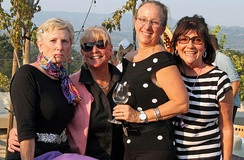 Women Rotarians in 1950s costume at the Rotary Club of Sonoma Valley's annual fundraiser in 2015