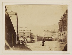 A very early photograph showing a Dover street scene, c. 1860
