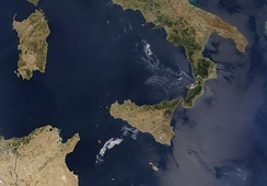 The two biggest islands of the Mediterranean: Sicily and Sardinia (Italy)