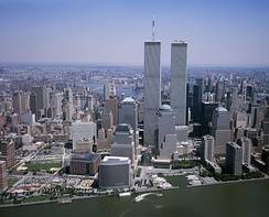 The World Financial Center and Battery Park City, next to the World Trade Center, were built on reclaimed land.