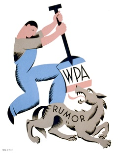 Poster representing the WPA defending itself from attacks