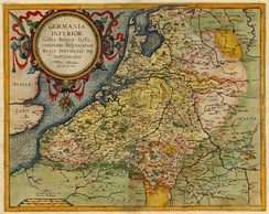 Map of the Netherlands c. 1593 by Cornelis de Jode