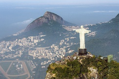 The Christ the Redeemer statue in Rio de Janeiro is one of the most famous religious statues worldwide[416][417]