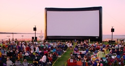 Traverse City Film Festival and their giant inflatable movie screen