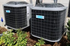 Typical residential central air conditioners in North America