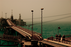 The Iraqi Al Basrah Oil Terminal, considered a terrorist target due to its importance