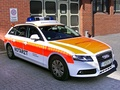Audi A4 Avant fly-car in Germany