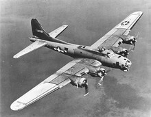 A USAAF B-17 Flying Fortress heavy bomber from World War II