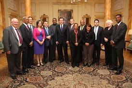 Leaders of the Overseas Territories with former Prime Minister David Cameron in 2012.