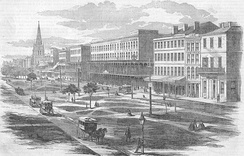 View in Canal Street, New Orleans, 1857