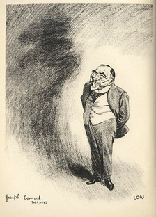 Caricature of Conrad by David Low, 1923