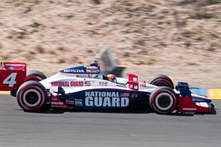 Wheldon practising for the 2010 Indy Grand Prix of Sonoma