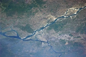 View of Dhaka from the International Space Station