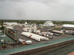 Cargo port in Hilo, Hawaii