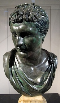Bronze bust of Eumenes II of Pergamon, a Roman copy of a Hellenistic Greek original, from the Villa of the Papyri in Herculaneum
