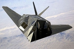 The F-117 Nighthawk was a stealth attack aircraft (retired from service in April 2008).