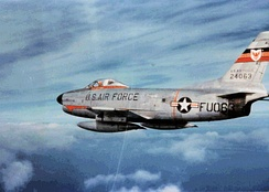 F-86D, AF Ser. No. 52-4063, of the 513th Fighter Interceptor Squadron, Phalsbourg-Bourscheid Air Base, France – 1958 performing a vital Air Defense role in Europe.