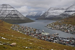 Klaksvík, on the island of Borðoy, is the Faroe Islands' second-largest town.