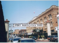 Entrance to Fort Worth Stockyards, 1999