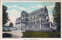 A 1910s postcard of the Crystal Lake Hotel.