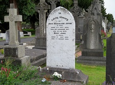 Grave of John Joyce and his wife Mary in Glasnevin Cemetery, Dublin. The grave is within sight of the grave of Charles Stewart Parnell, John Joyce's hero.