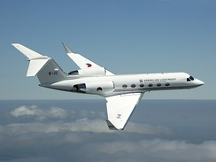 A Gulfstream IV of the Royal Netherlands Air Force