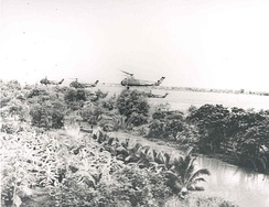U.S. Marine Corps UH-34Ds over Vietnam, 1965.